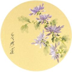 Sumi-e, painting, Beppe Mokuza, Zen, meditation, brush, ink, chryanthemum, monk
