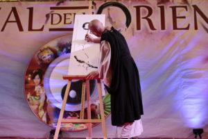 Festival dell'Oriente, sumi-e, pittura, Beppe Mokuza, dimostrazione di pittura