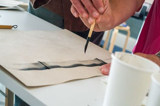 Sumi-e, dipingere, inchiostro, Beppe Mokuza