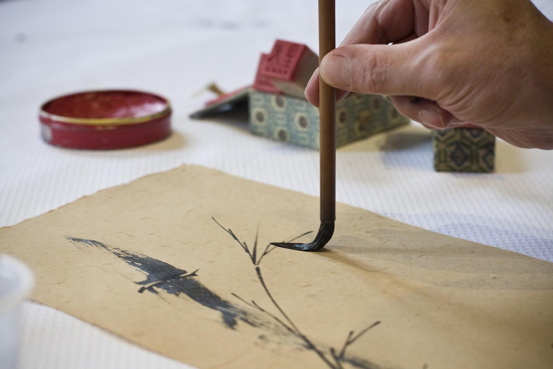 Sumi-e, Painting, Japanese, Beppe Mokuza, Zen, monk, ink, brush, consciousness, art, concentration